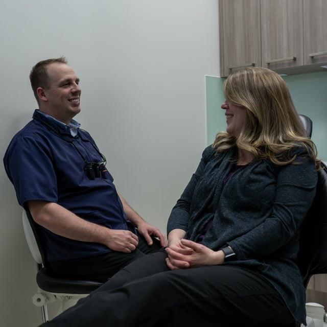 Dr. Jeff Bullock with Patient